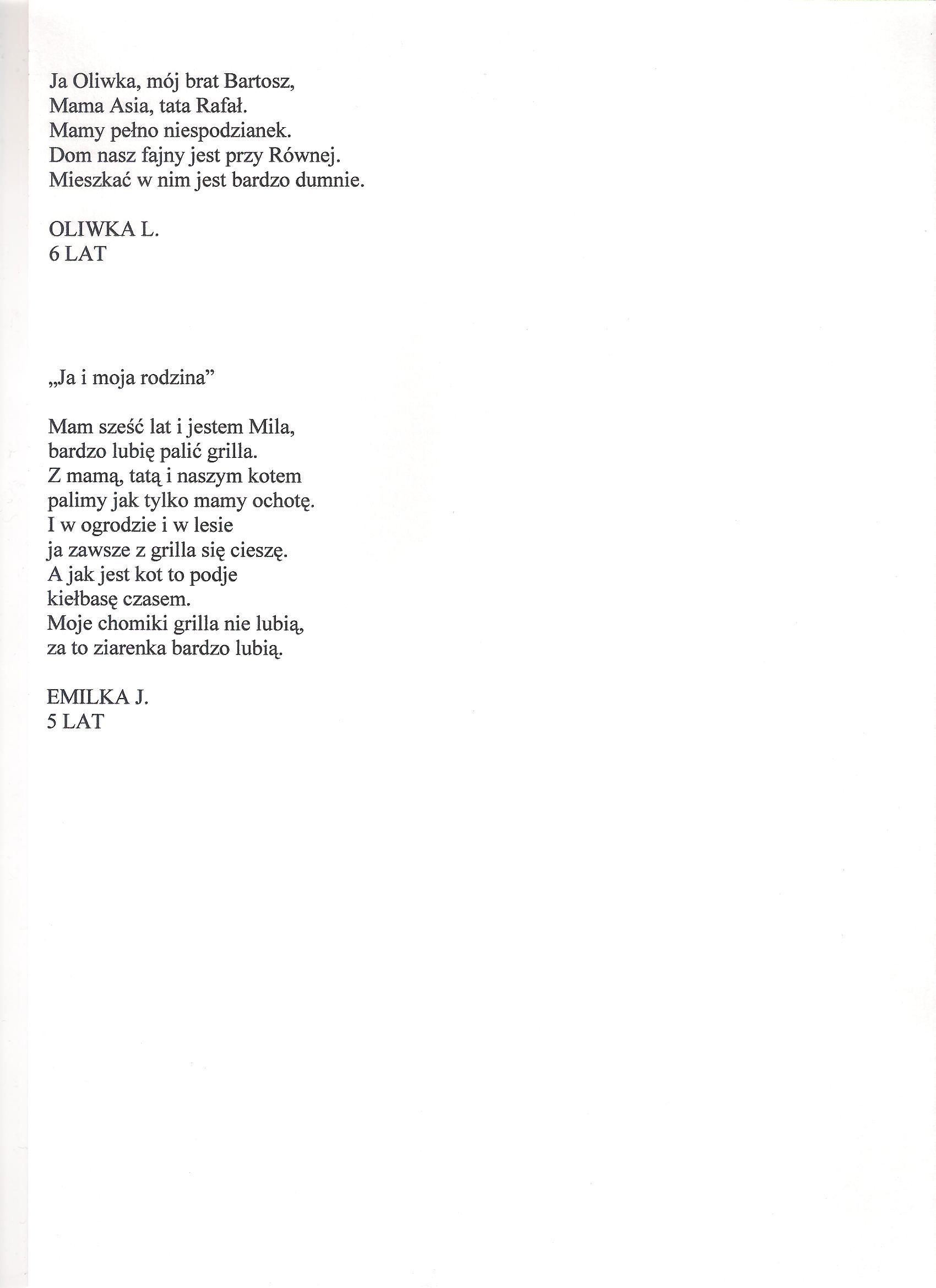 Vii Dziecięce Prezentacje Poetyckie Przedszkole Nr 4